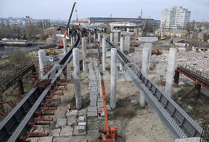 Supports of the Podolsk-Resurrection Bridge