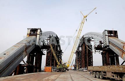 Span structures of the Podolsk-Resurrection Bridge