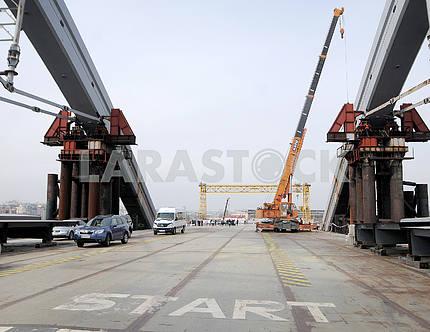 Construction of the Podolsk-Resurrection Bridge