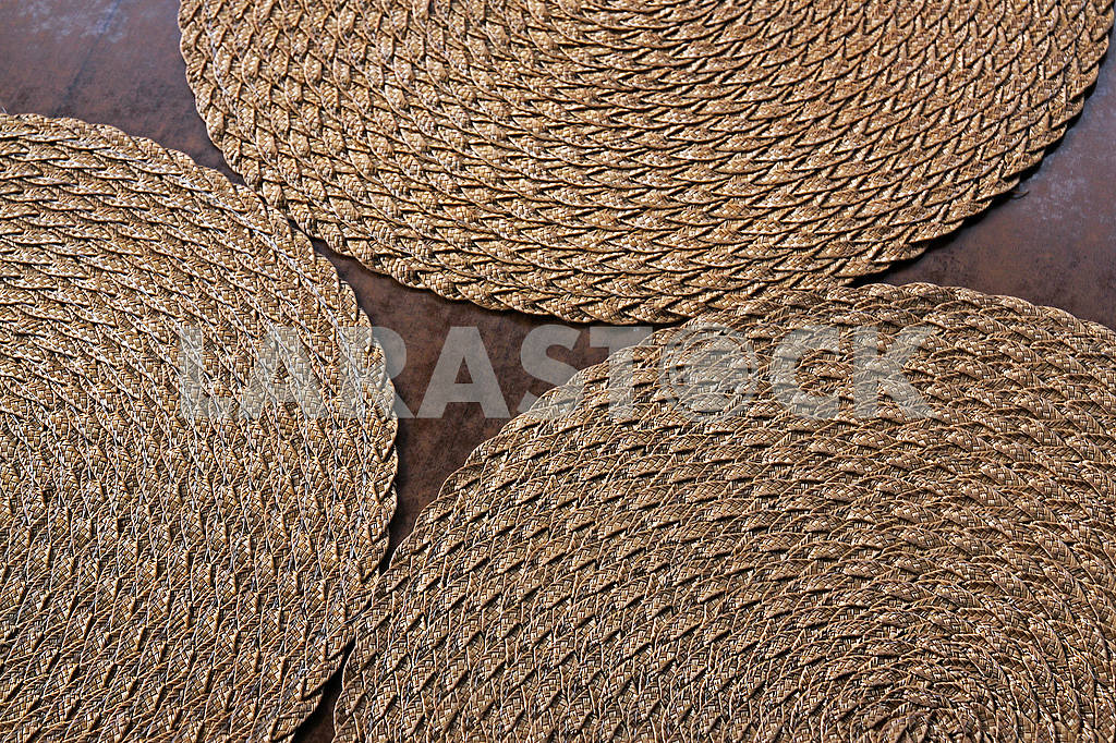 Wicker napkins for plates — Image 54372