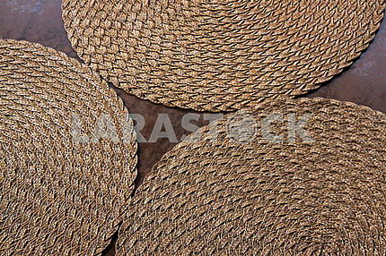 Wicker napkins for plates