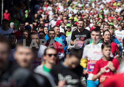 Vitali Klitschko at the distance of the charity race