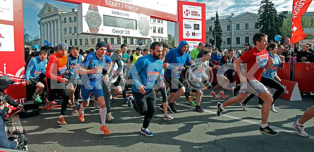 Half marathon start