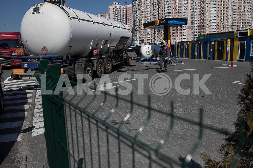 Gas station in Kiev — Image 54485