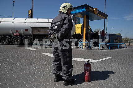 Gas station in Kiev
