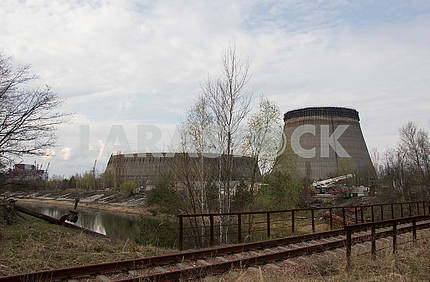 Fan cooling towers at the Chernobyl NPP