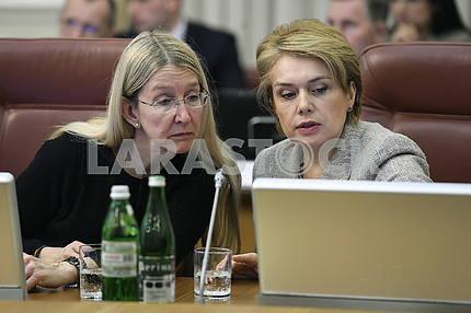 Uliana Suprun and Lilia Grinevich