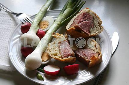 Croatian Easter breakfast,1