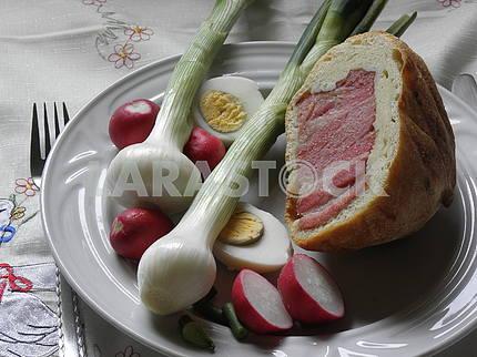 Croatian Easter breakfast,4