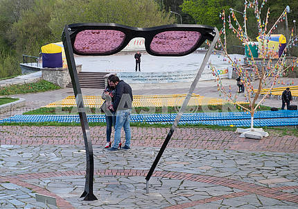 """""""Glasses"""" installation at the exhibition"""