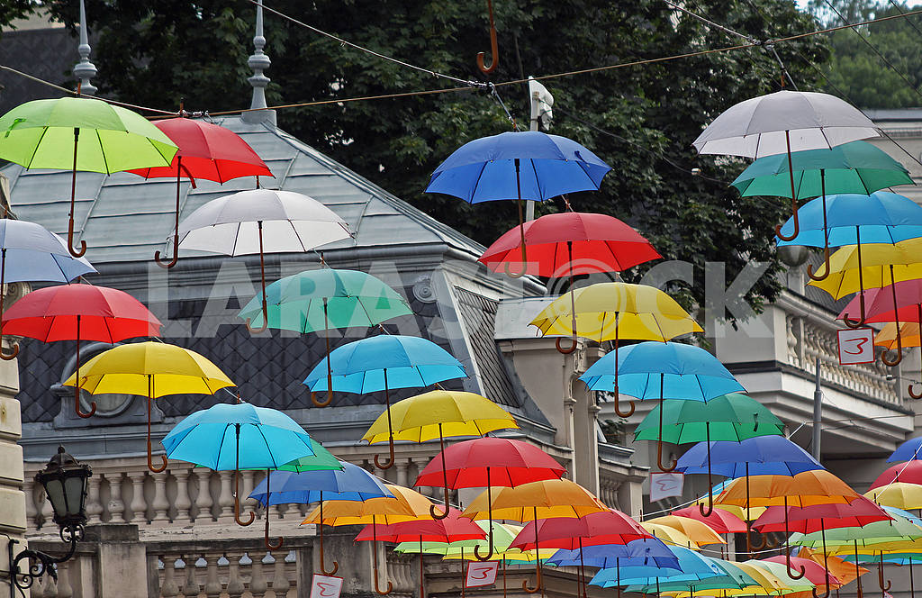Many colored umbrellas — Image 54703