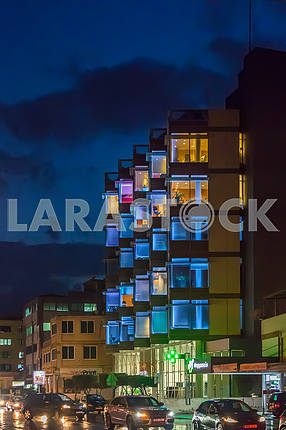 Griva Degeni Street in the evening