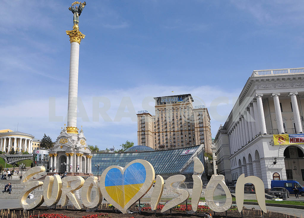 Eurovision emblem on the Independence Square — Image 55058