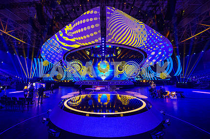 Eurovision stage at the IEC