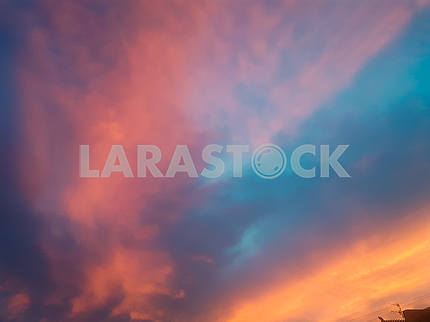 Pink and Blue Sky Texture