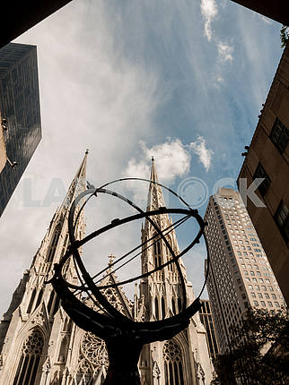 Atlas and St Patrick's Cathedral