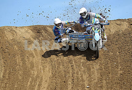 Motor racers on the track