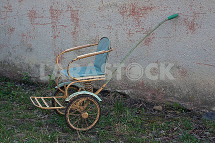 Old-fashioned soviet stroller