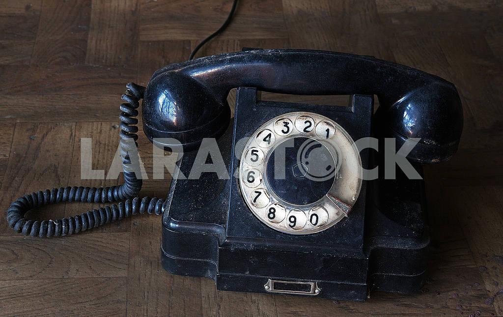 Soviet old black vintage phone — Image 55435