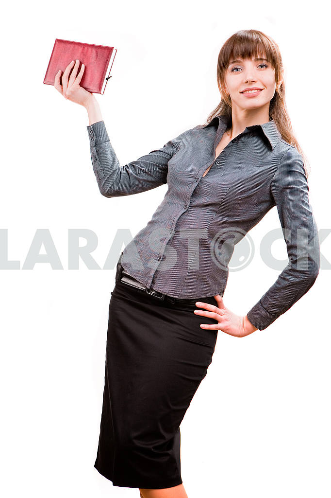 Young smiling successful business woman. Over white background — Image 5582