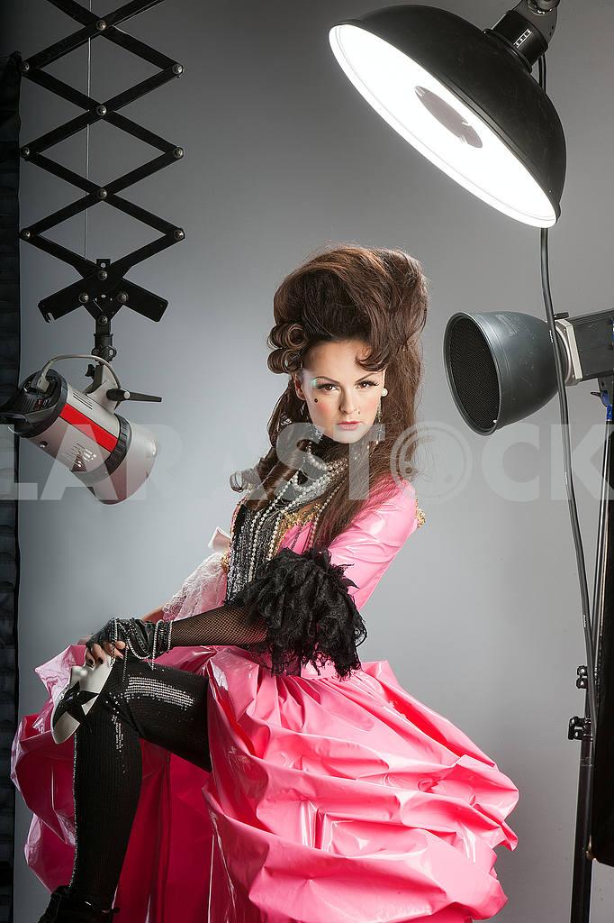 Photoshooting with beautiful woman — Image 55994