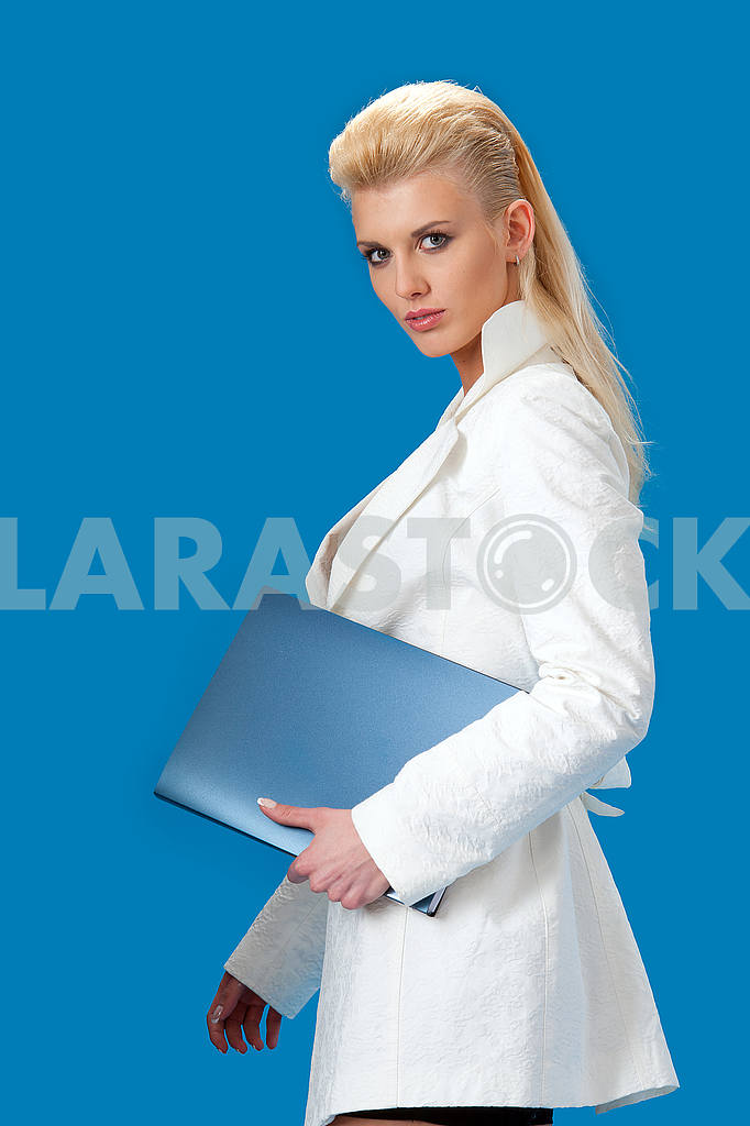 Young business lady with a folder — Image 56023