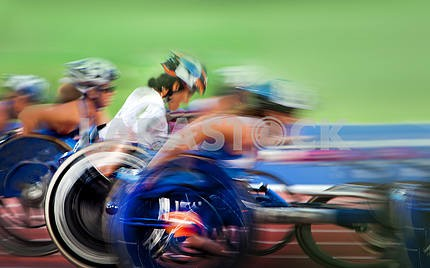 tense struggle in Paralympic wheelchair