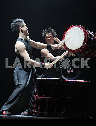 Ensemble of Japanese drummers