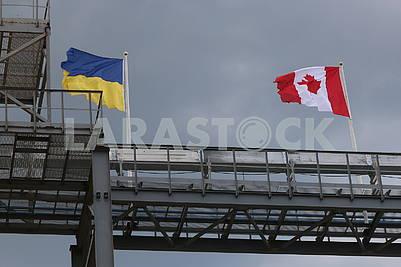 Flag Ukraine and Canada