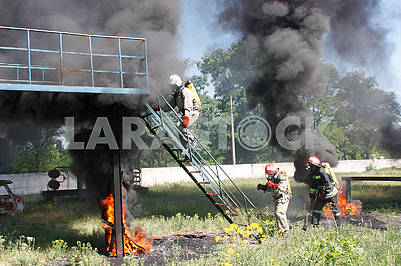 Exercises firefighters in Kropiwnick
