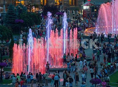 Light music fountains