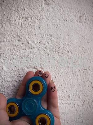 Motionless Fidget Spinner in Hand