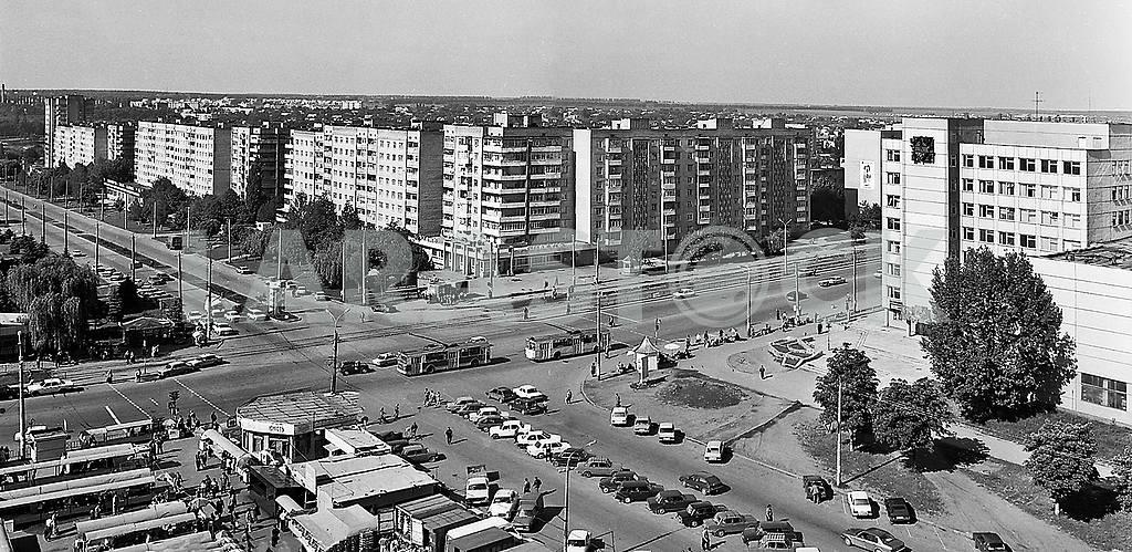 Vinnitsa, intersection ul.Keletskoy and Prospect Youth, early 2000s