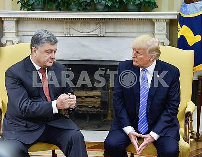 Peter Poroshenko, Donald Trump