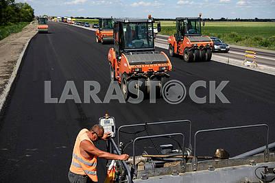 Repair of the highway Kiev - Odessa