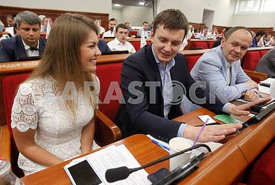Natalia Maslova, Alexey Okopny and Yuri Suliga