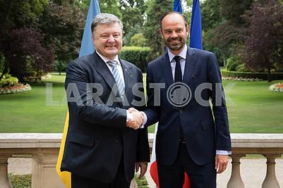Edouard Philip and Petro Poroshenko