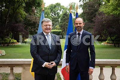 Edouard Philip and Petro Poroshenko
