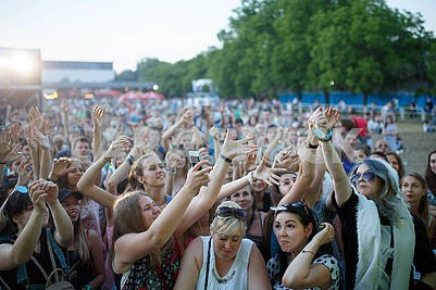 Spectators at the festival