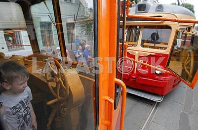 A parade of trams