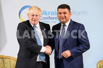 Vladimir Groysman, Boris Johnson