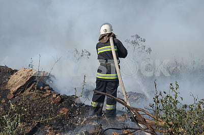 Firefighters extinguish fire