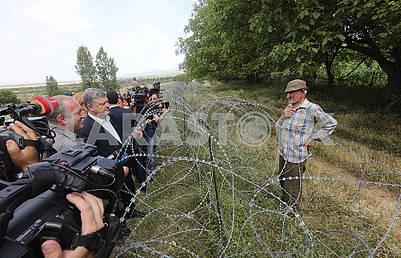 Petro Poroshenko on the line of demarcation with South Ossetia