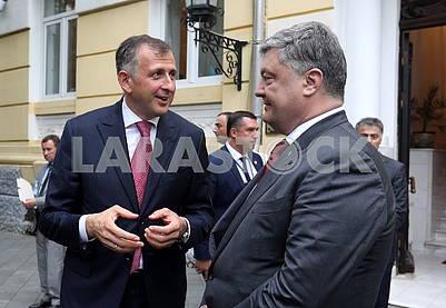 Zurab Pataradze and Petro Poroshenko
