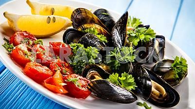 Морепродукты красота изысканных блюд. Приятного аппетита!