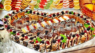 Desserts are piquancy and sophistication of dishes.