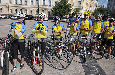 Participants of the bike ride