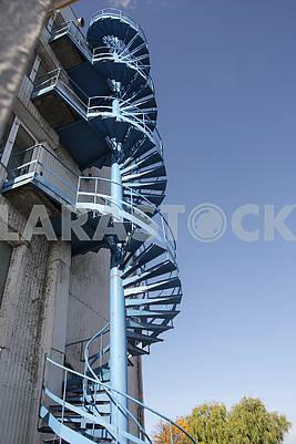 Spiral staircase at Kiev HPP