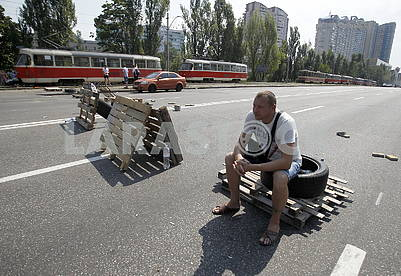 Protesters on the Kharkov highway