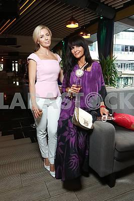 """Mrs. Ukraine Universe 2015"" Irina Zaitseva (left)"